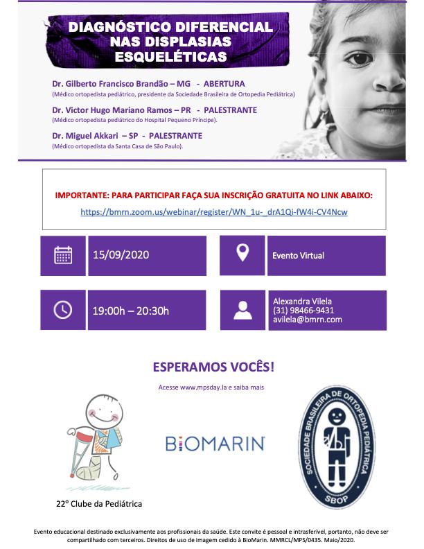 Webinar: Diagnóstico diferencial nas displasias esqueléticas