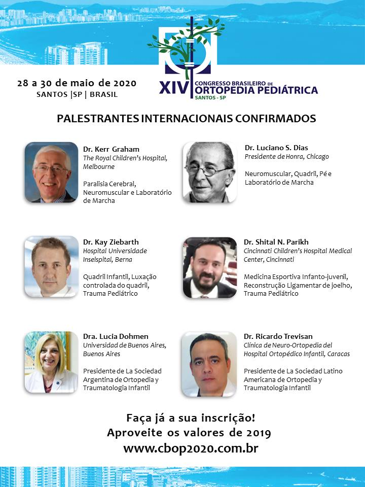 CBOP 2020 - Palestrantes internacionais confirmados