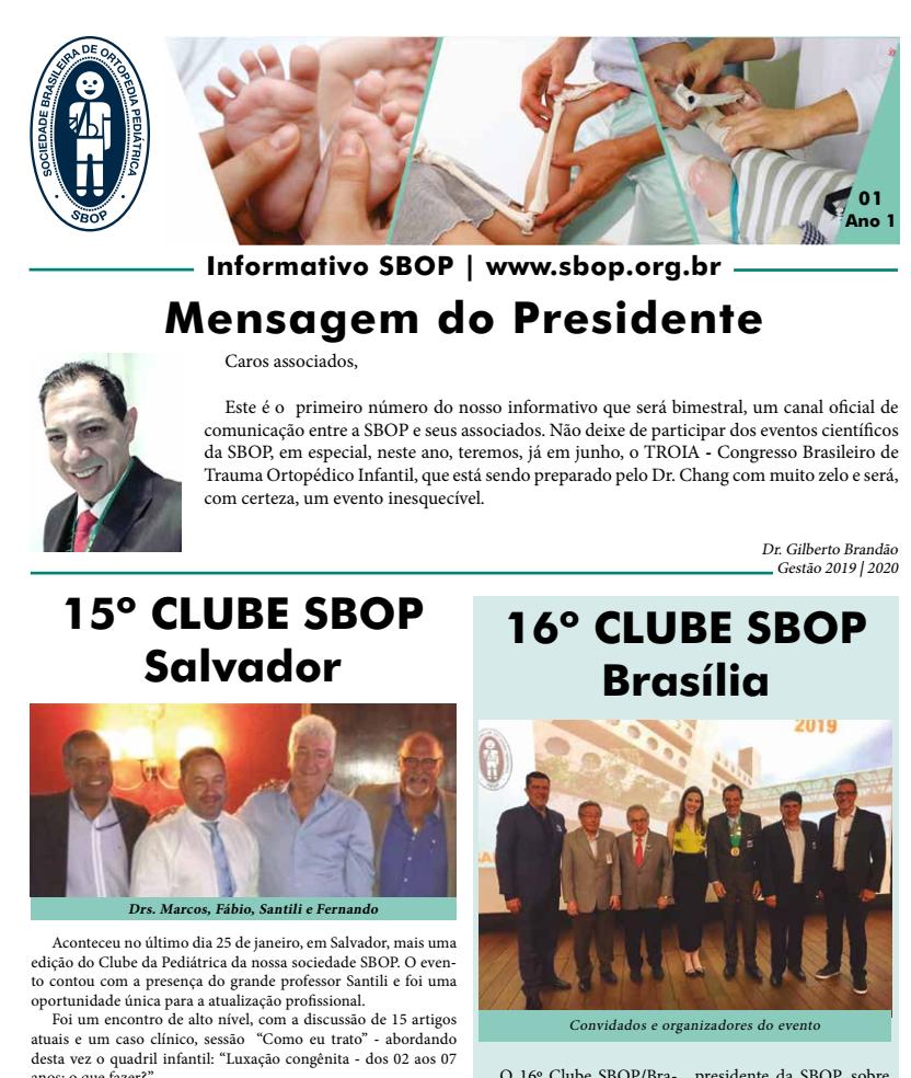 Informativo SBOP - 01